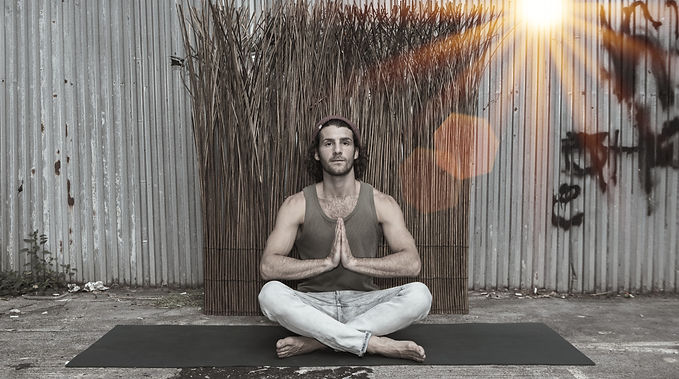 Austin Bitzas Easy Seated pose Life as a Secret Yogi Podcast