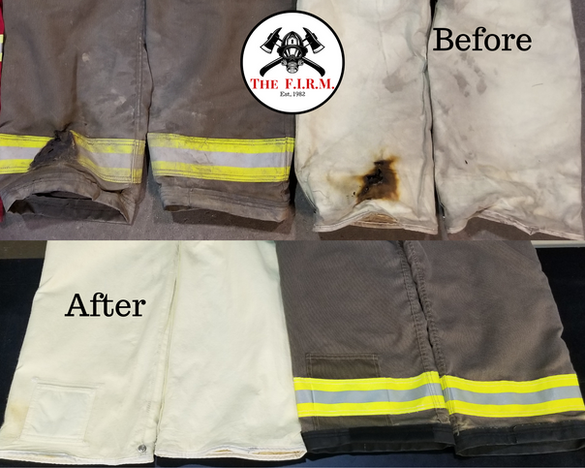 Burnt pant outer shell & moisture barrier