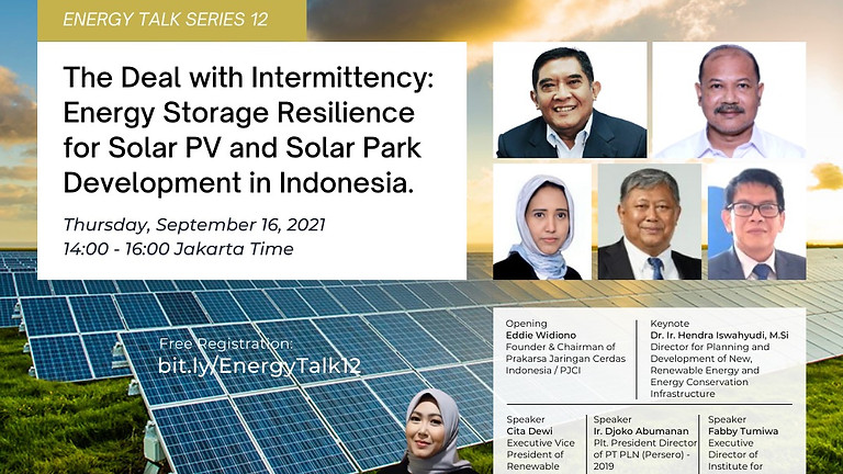The Deal with Intermittency Energy Storage Resilience for Solar PV and Solar Park Development Indo