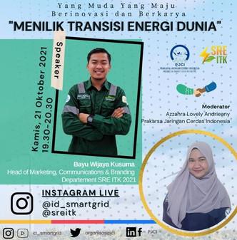 """Yang Muda Yang Maju Berkarya dan Berinovasi!  with Topic:""""Menilik Transisi Energi Dunia"""""""