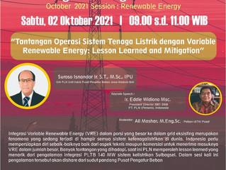 Tantangan Operasi Sistem Tenaga Listrik dengan Variable Renewable Energy: Lesson Learned and Mitigat