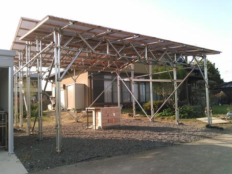 バーベキュー場の屋根が完成しました!
