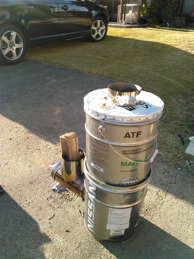 オイル缶ストーブ(ロケットストーブ)を作りませんか?