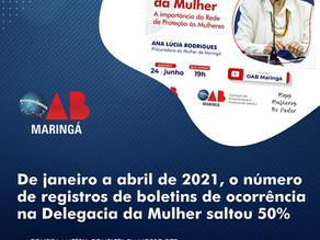 Aumento da violência de gênero e Procuradoria da Mulher serão temas de evento na OAB Maringá