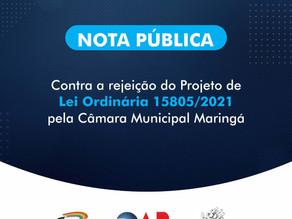 OAB Maringá emite nota contra rejeição de projeto que permitia uso do nome social