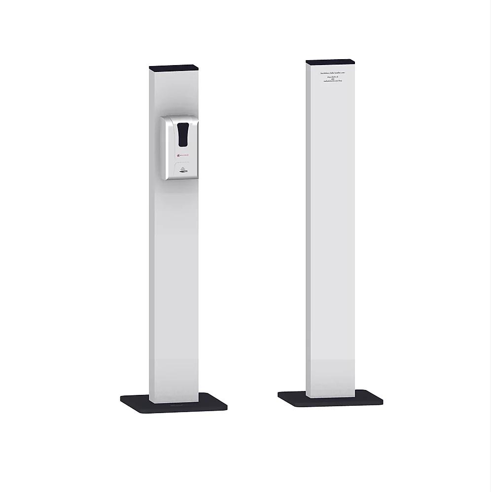 Desinfektions-Dispenser mit Standfuss weiss