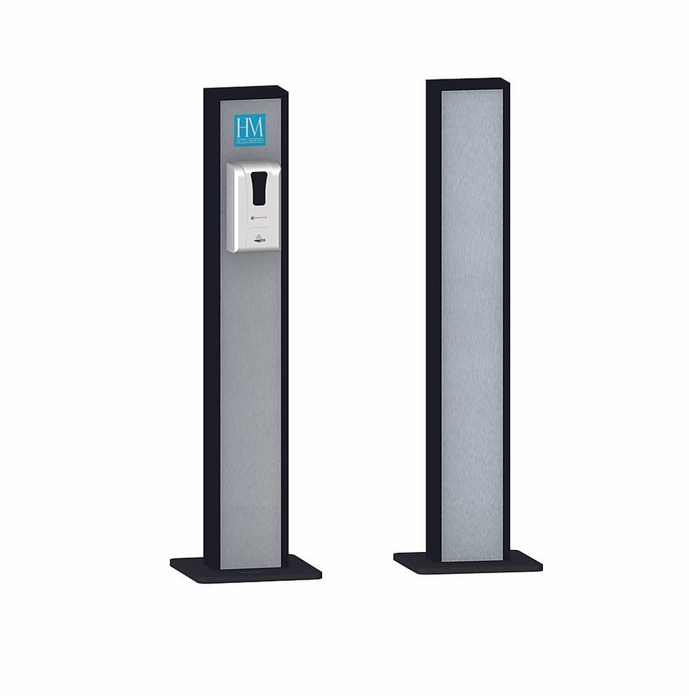 Desinfektions-Dispenser mit Standfuss und Rahmen