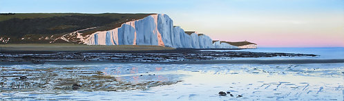 Evening light on the Seven Sisters by Emily Grocott