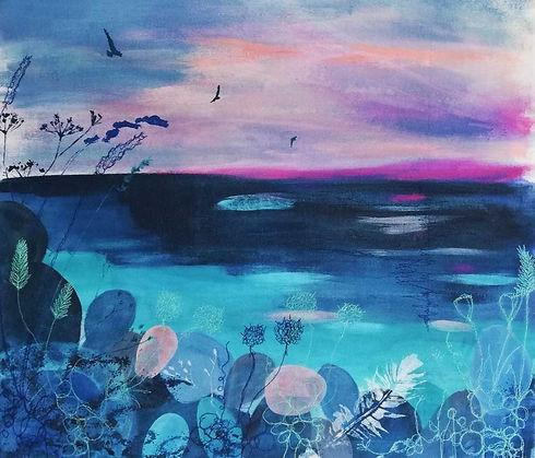 Calm-Giclee-Print-with-embroidery-by-Ell