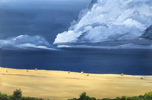 Stormy August skies by Emily Grocott