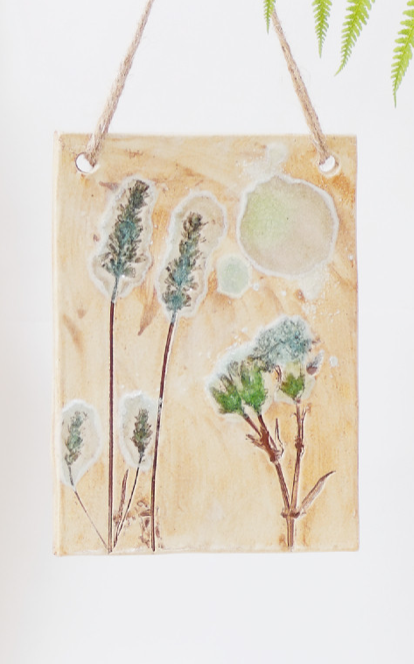 'Wild Meadows' Hanging Plaque by Cat Brown