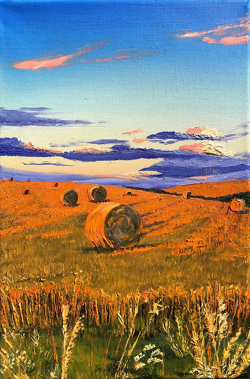 Golden hay bales by Emily Grocott