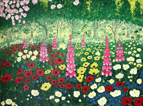 Flourishing Florals Acrylic Painting - 80 x 60cm.jpg