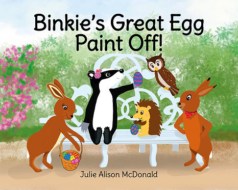 Children's Book Illustrated by Julie McDonald: Binkie's Great Egg Paint Off!