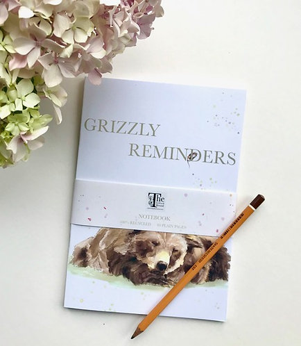 'Grizzly Reminders' Notebook  by Emma Gillo