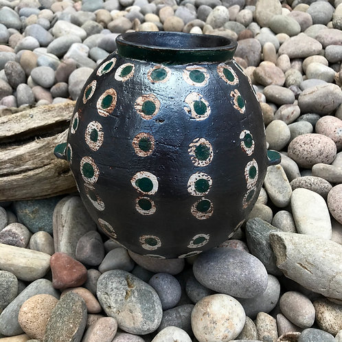 Black iron wash vase by Nicola Gillis