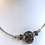 Thumbnail: Glass lampwork bead choker necklace by Norma Murray