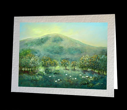 Wolstonbury Hill Greetings Card by Serena Sussex