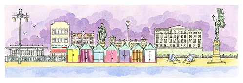 Hove Actually print by Clare Harms