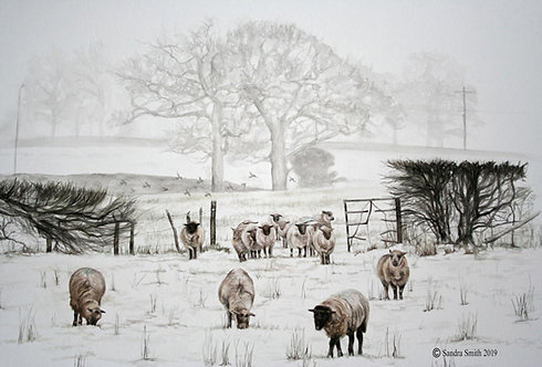 A Winter's Morning in Sayers Common by Sandra Smith
