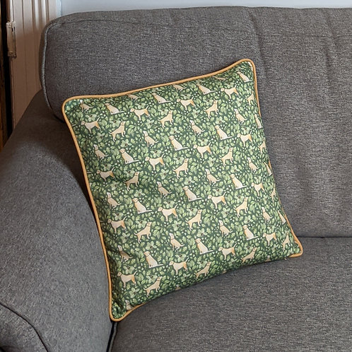 'Golden Labrador' Cushion by Samantha Hall
