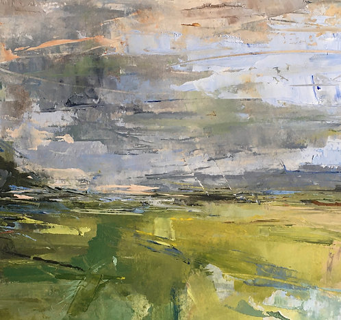 Wolstonbury - Fading Light by Kate Harries