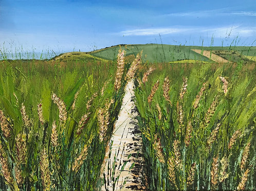 Wheat fields before the Beacon by Emily Grocott