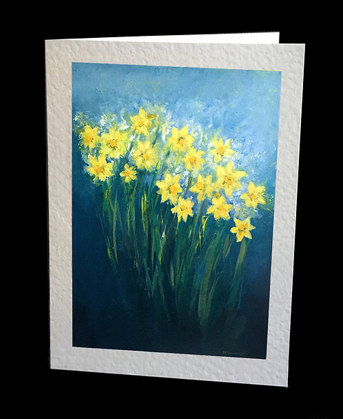 Daffodils in Bloom Greetings Card by Serena Sussex