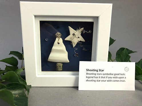 Ceramic shooting star by Kate McMinnies
