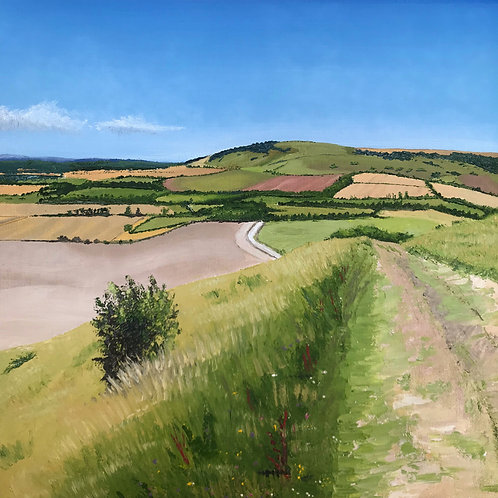 Chalk Path on a Summer's Day by Emily Grocott