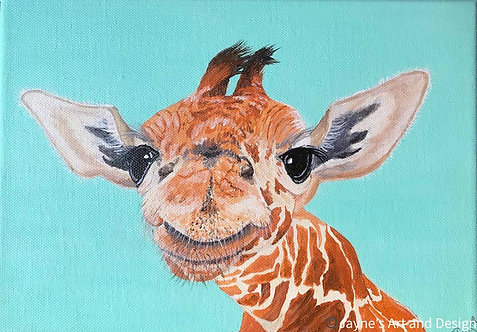 Smiley Giraffe by Jayne Crow