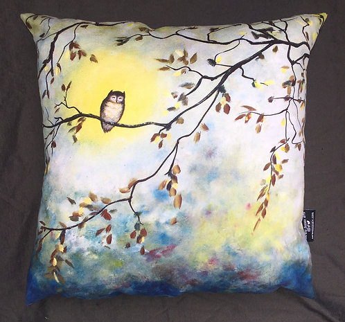 Sleepy Owl Cushion by Serena Susse