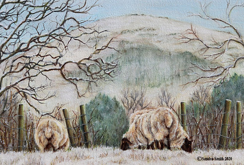 A Winter's Morning in Sayers Common III by Sandra Smith