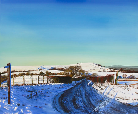 Giclee Print of Snow on Wolstonbury by Emily Grocott
