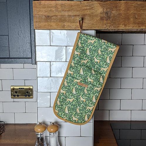 'Golden Labrador' Oven Gloves by Samantha Hall