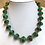 Thumbnail: Glass lampwork bead necklace by Norma Murray