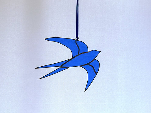 Stained Glass Swallow by Pam Holmes