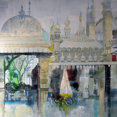 Pavilion Gardens Greetings Card by Alison Sibley