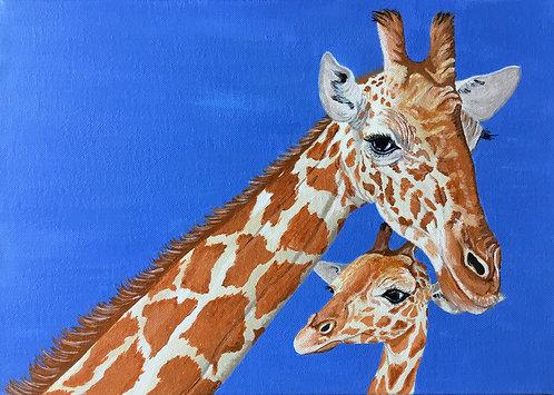 Giraffes Love by Jayne Crow