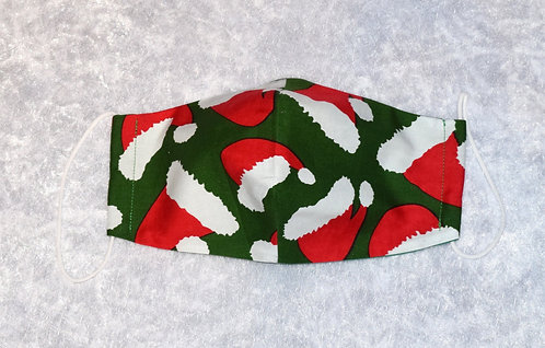 Face Mask with a Christmas Hat pattern by Pamela Holmes