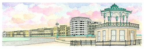 Regency Hove print by Clare Harms