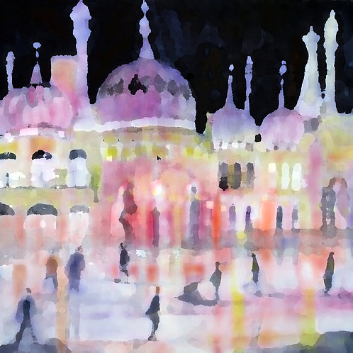 Brighton on Ice Greetings Card by Alison Sibley