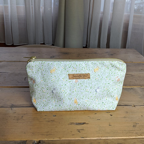 'Rabbit & Carrots' Eco-Friendly Cosmetic Bag by Samantha Hall