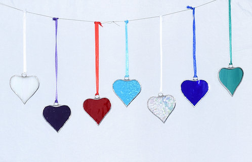 Stained Glass Small Heart by Pam Holmes