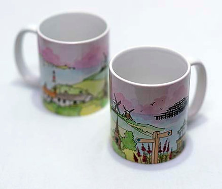 'Downs to the Sea' Mug by Clare Harms