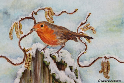Robin and Catkins by Sandra Smith