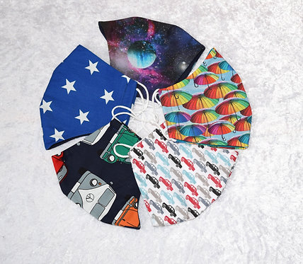 Abstract Face Masks by Pamela Holmes