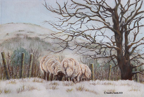 A Winter's Morning in Sayers Common II by Sandra Smith