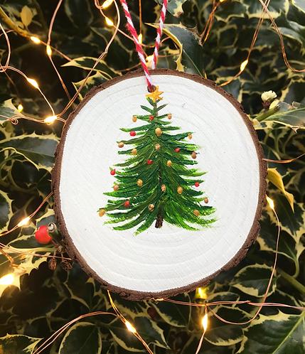 Christmas tree wood slice by Emily Grocott