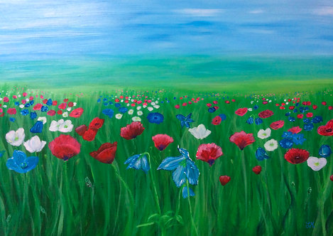 Picturesque Poppies by Julie McDonald